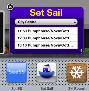 Set Sail dashboard widget