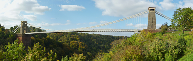Suspension Bridge Panorama