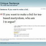 New Unique Sentence