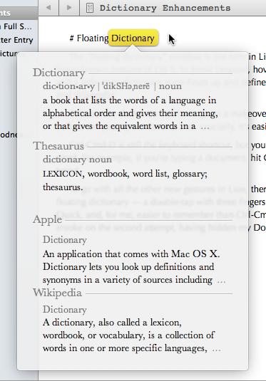 Lion Dictionary
