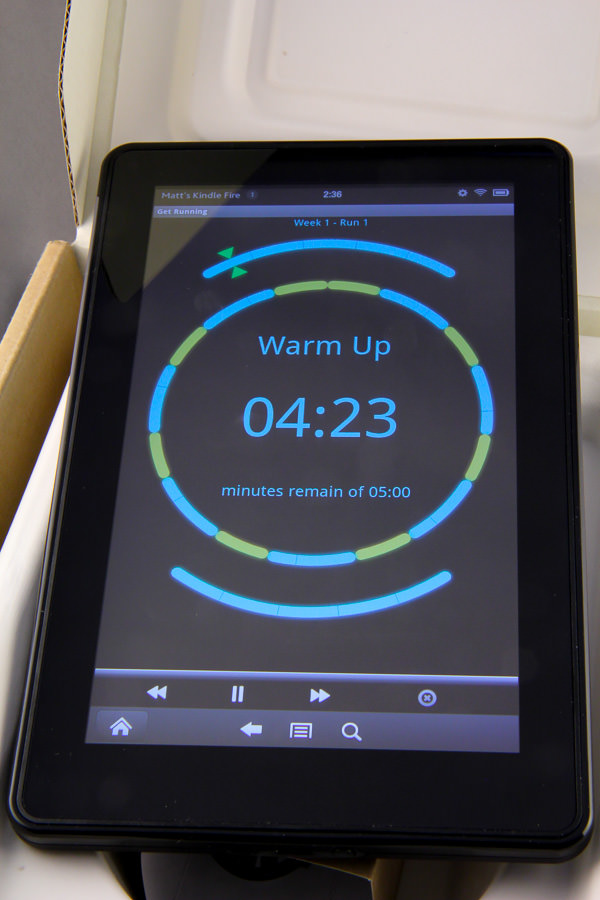 Kindle Fire: Run Clock