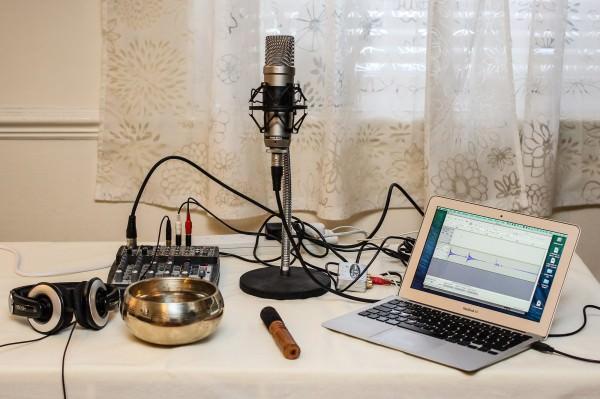 Tibetan Bowl Recording Setup