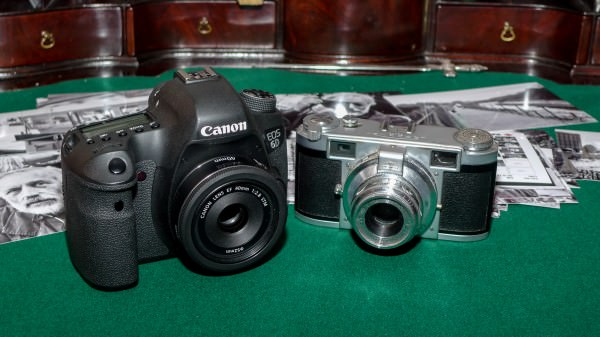 Canon 6D and Leidolf Lordomat side by side