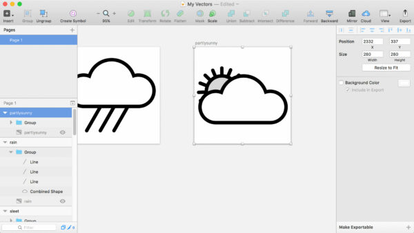 Icons, based on Weather Underground Icon Set