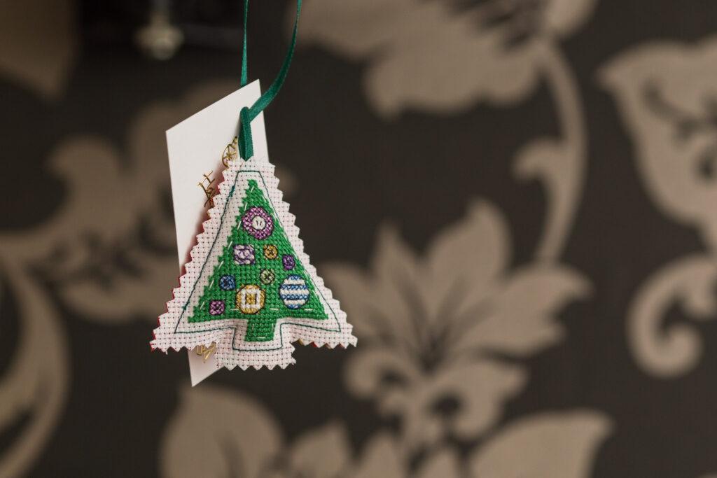 Cute cross-stitch Christmas tree
