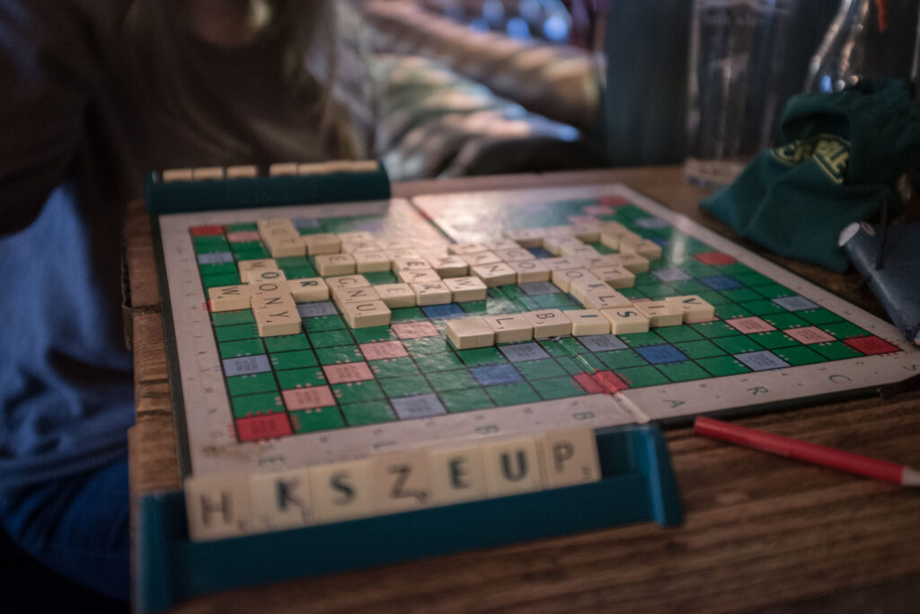 Playing Scrabble in the Steam Crane