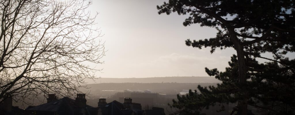Dundry hills from Royal York Crescent