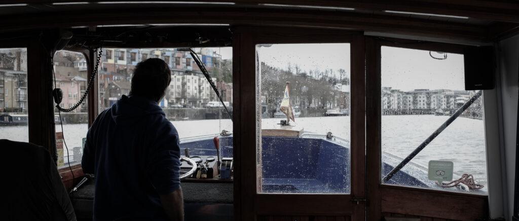 Ferry boat Matilda on a rainy day
