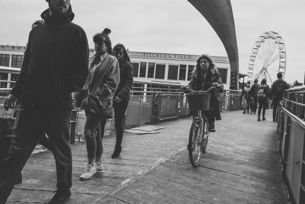 Cyclist on Pero's Bridge