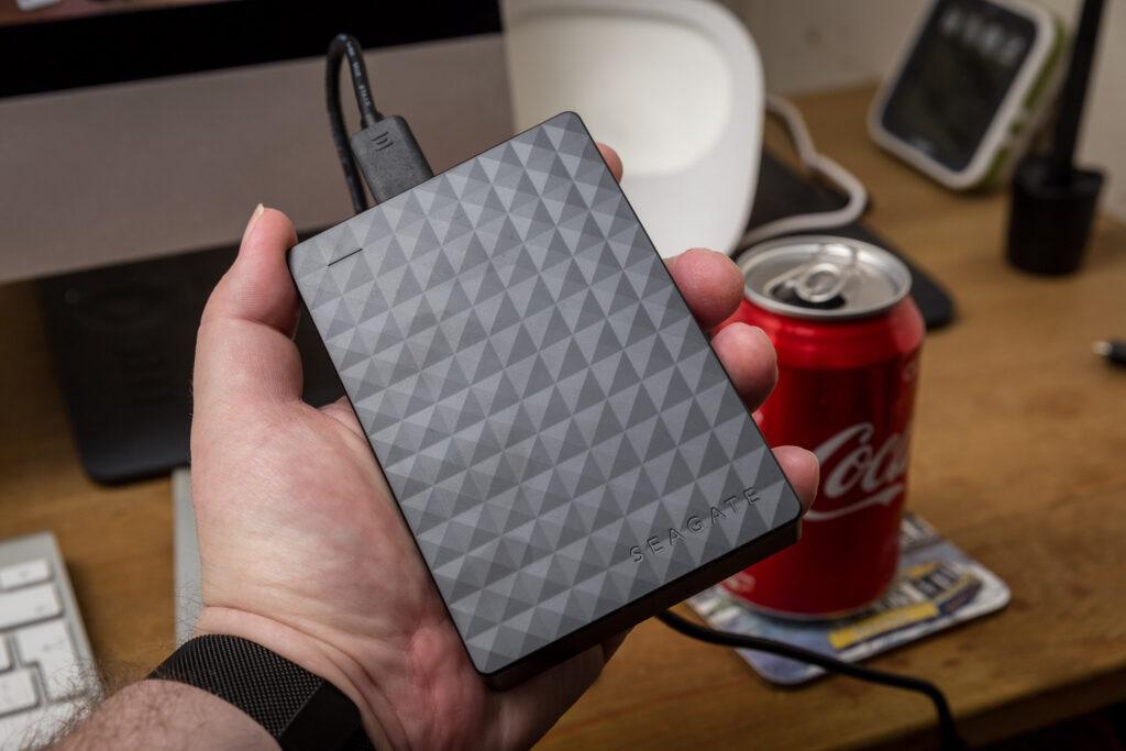 Seagate 4TB portable hard drive.