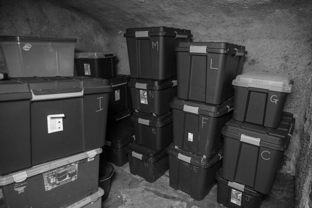 Cellar storage boxes