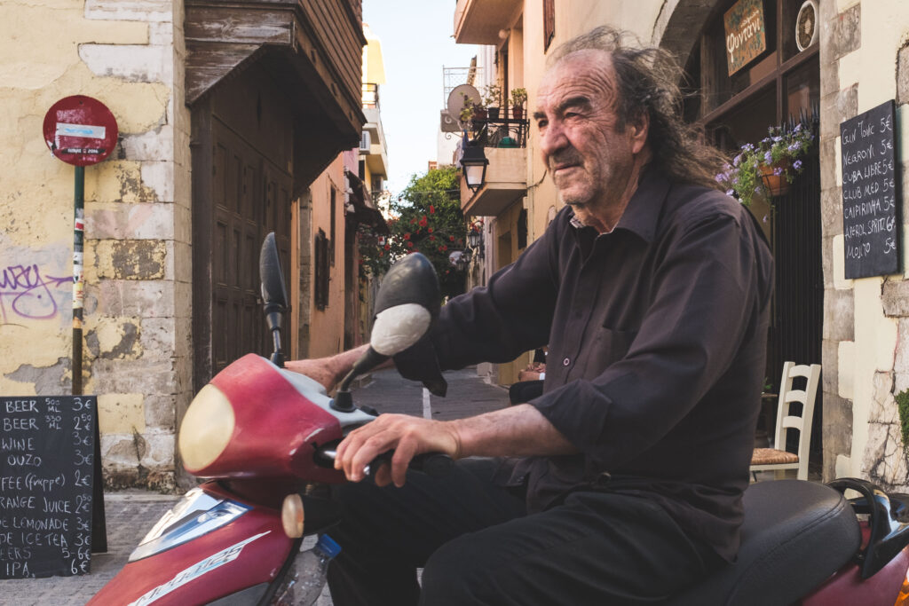 The coolest man in Rethymnon