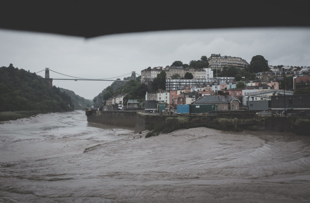 Clifton Suspension Bridge in the rain