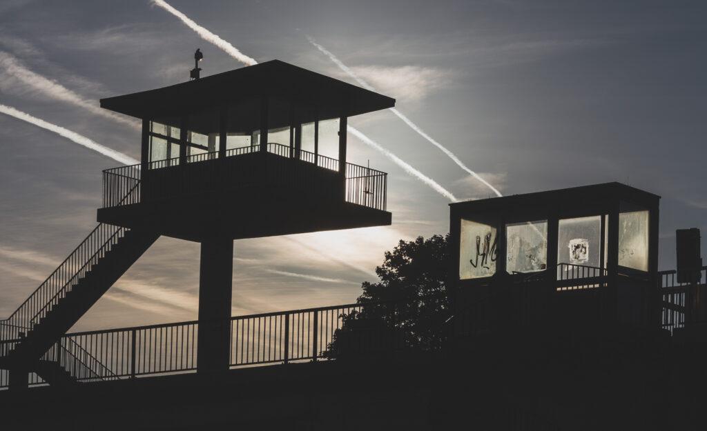 Brutalist control tower, Plimsoll swing bridge, Bristol