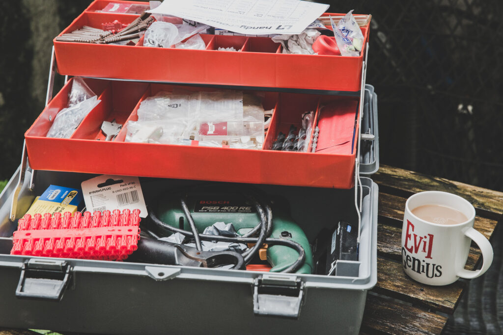 Toolbox and tea