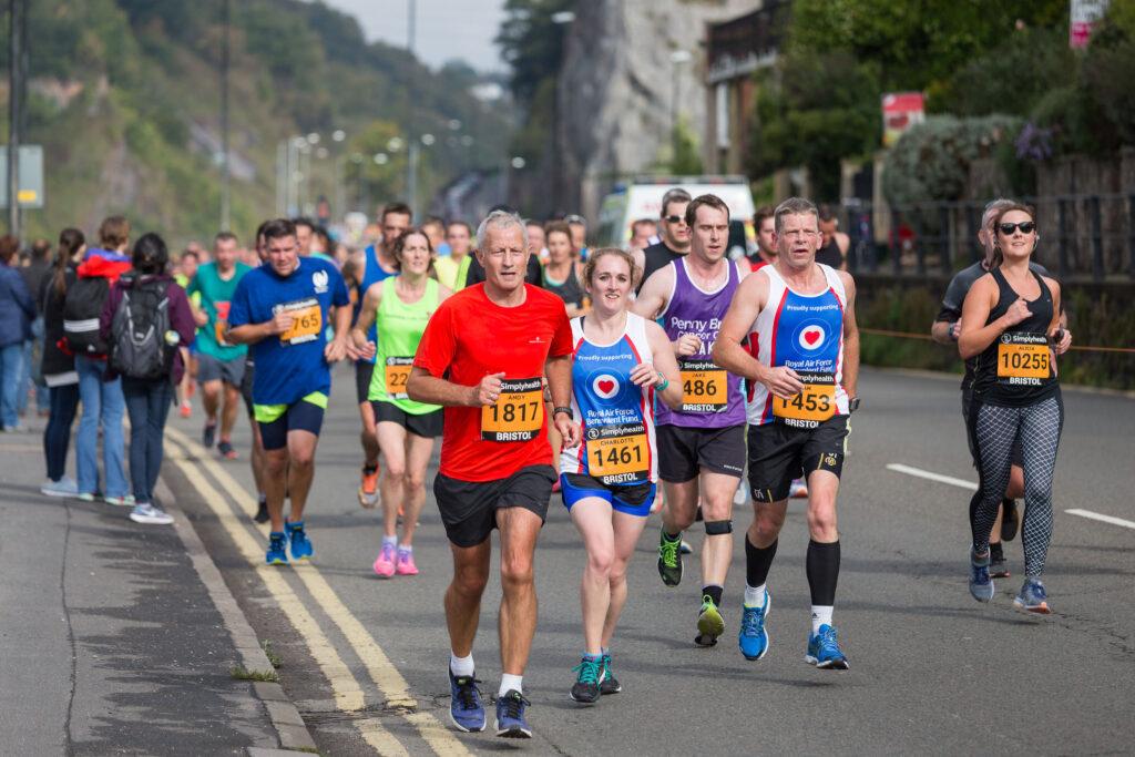 Runners in the Bristol Half Marathon 2017