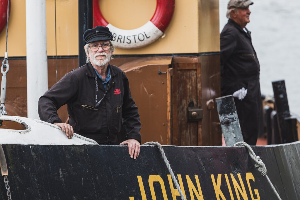 Volunteer crewman on the boat John King