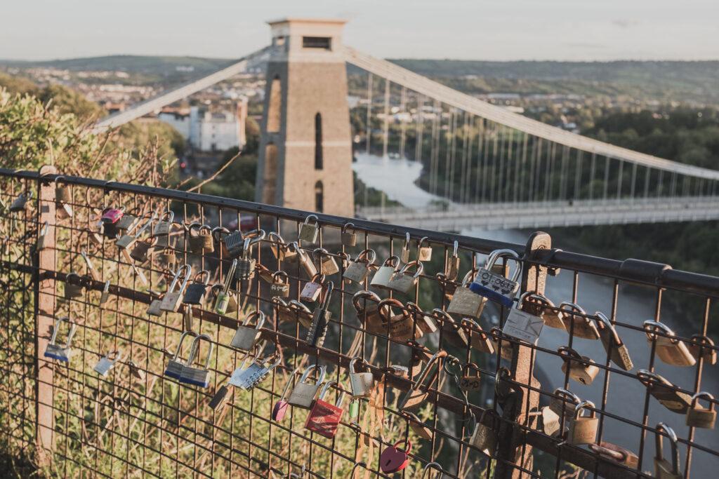 Love locks on the Observatory Hill railings