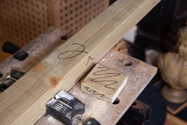 Face-side carpentry marks