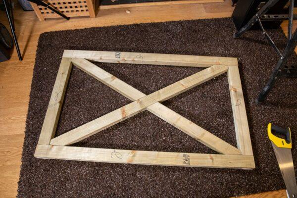 Cross-braced frame