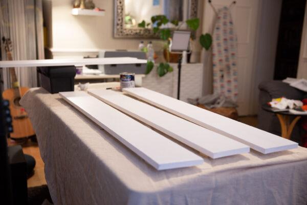 Facing planks primed