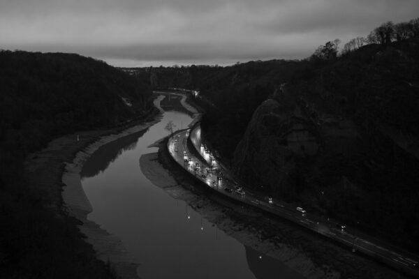 Avon Gorge and Portway, taken from the Clifton Suspension Bridge