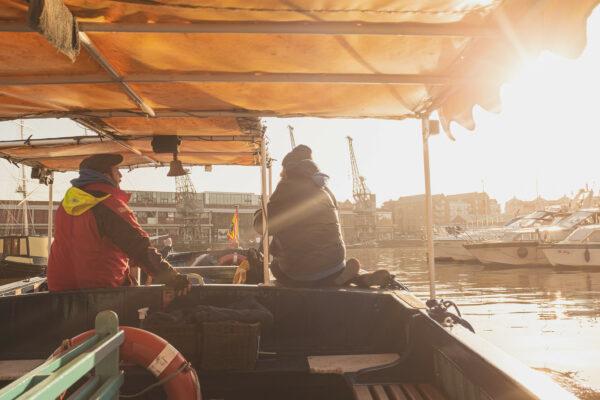 On board a Bristol Ferry boat in the sunshine